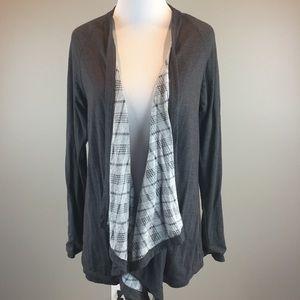Pixley Stitch Fix Gray Long Sl Drape Cardigan SZ S